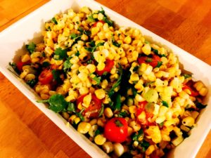sweetcorn salsa Dinner Party Shaftesbury caterer and Personal chef service that covers Somerset and Dorset including Weymouth, Sherborne, Bruton, Bridport, Dorchester,  Lyme Regis, Weston and Yeovil
