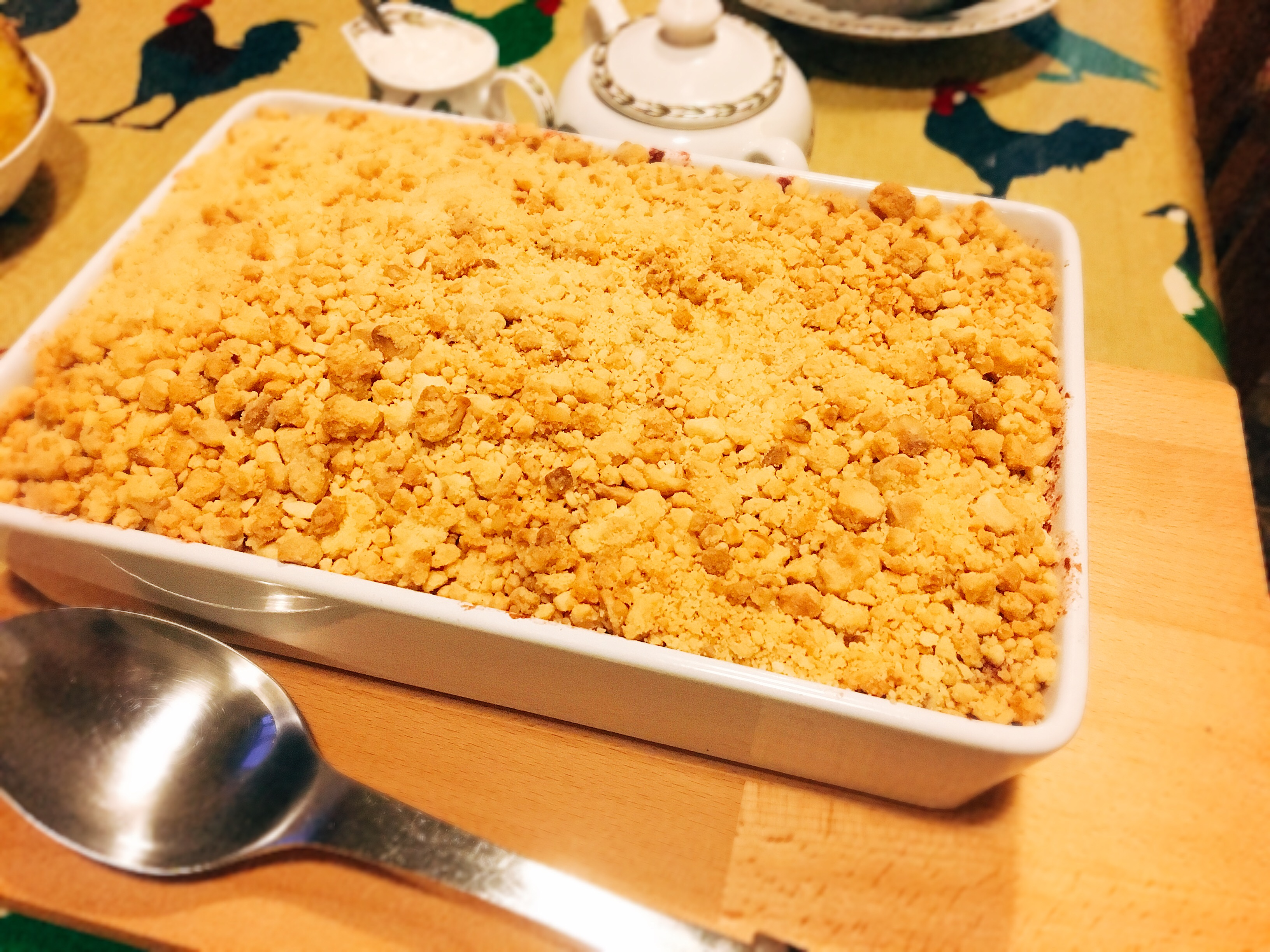 personal chef Somerton apple and blackberry crumble