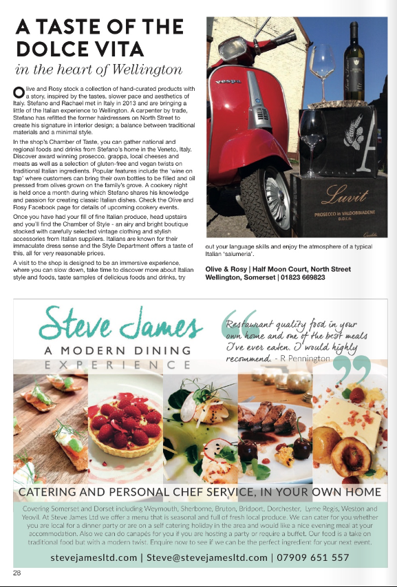 Taunton Living Magazine Steve James Ltd