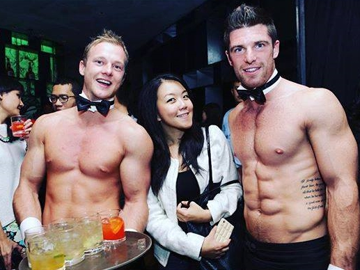 Butler in the buff with catering