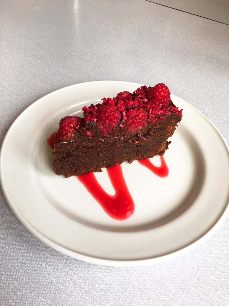 raspberry and chocolate torte personal chef Steve James Somerset Dorset Caterer