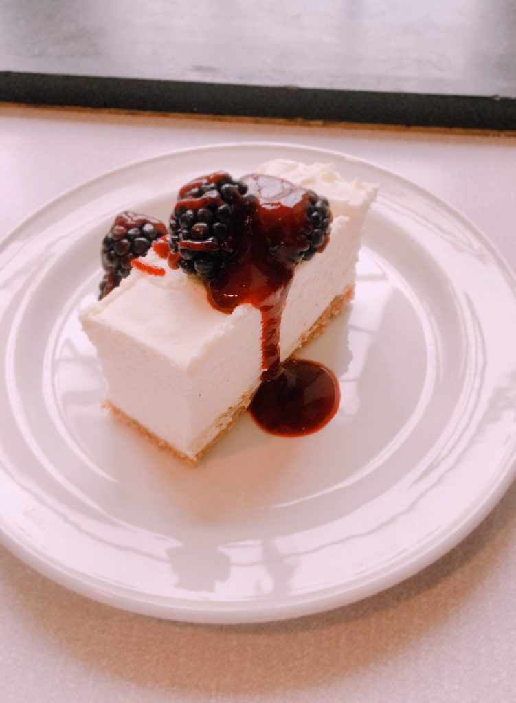 vanilla and blackberry cheesecake personal chef Steve James Somerset Dorset Caterer