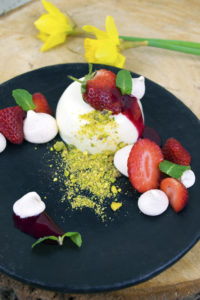 eton mess panna cotta personal chef caterer catering private chef somerset dorset east devon weymouth taunton langport bridport beaminster dorchester exeter beer broad bean tapenade feta red pepper