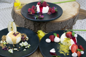 panna cotta personal chef caterer catering private chef somerset dorset east devon weymouth taunton langport bridport beaminster dorchester exeter beer broad bean tapenade feta red pepper